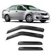 Calha de Chuva Acrilica Adesiva Toyota Corolla Sedan 2008 a 2014 4 Portas