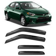 Calha de Chuva Acrilica Adesiva Toyota Corolla Sedan 2015 a 2017 4 Portas