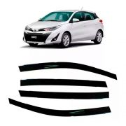 Calha de Chuva Acrilica Adesiva Toyota Yaris Hatch 2018 4 Portas