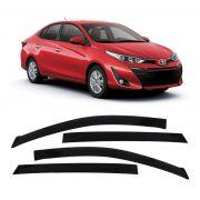 Calha de Chuva Acrilica Adesiva Toyota Yaris Sedan 2018 4 Portas