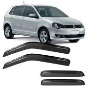 Calha de Chuva Acrílica Adesiva Volkswagen Polo Hatch ? 4 portas