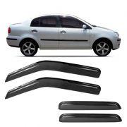 Calha de Chuva Acrílica Adesiva Volkswagen Polo Sedan ? 4 portas