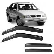 Calha de Chuva Acrílica Adesiva Volkswagen Santana Quantum 1996 a 2006 4 portas