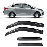Calha de Chuva Acrílica Hyundai HB20 Sedan 2013 a 2017 4 Portas