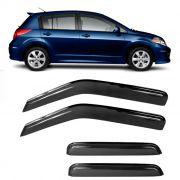 Calha de Chuva Acrílica Nissan Tiida Hatch todos 4 Portas