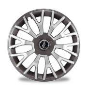 Calota Esportiva Triton Aro 14 Graphite Silver Encaixe Universal Unidade