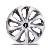 Calota Esportiva Velox Aro 14 Silver Graphite Encaixe Universal Unidade
