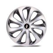 Calota Esportiva Velox Aro 15 Silver Graphite Encaixe Universal Unidade
