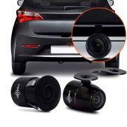 Câmera de Ré Colorida Universal 2x1 Borboleta Para-Choque Com Linhas Dinâmicas