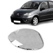 Capa de Espelho Retrovisor Cromado Peugeot 206 Citroen Picasso C3 Lado Esquerdo
