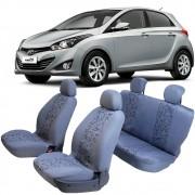 Capa Para Bancos Hyundai HB20 Hacht e Sedan Cinza com Estampa Sortida