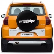 Capa para Estepe Basic Vw CrossFox 2005 a 2017 Basic Aro 15 Com Cadeado