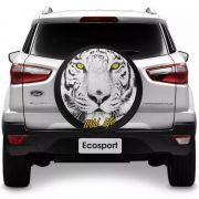 Capa para Estepe Tigre Wild Life Ecosport CrossFox 2005 a 2017 Air Cross 2011 a 2017 Spin Activ 2015 a 2017 Com Cadeado