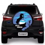 Capa para Estepe Wild Horse Ecosport CrossFox 2005 a 2017 Air Cross 2011 a 2017 Spin Activ 2015 a 2017 Com Cadeado