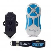 Controle Longa Distância JFA K600 600 Metros Branco Com Tecla Azul