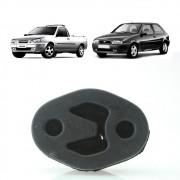 Coxim silencioso traseiro Ford Fiesta 1996 a 2002 Courier 1996 a 2013