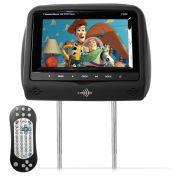 Encosto de Cabeça Kx3 Tela LCD 7 Dvd Usb Sd Com Controle Joystick Preto