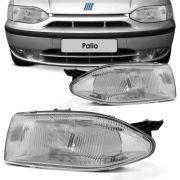 Farol Principal Fiat Palio Weekend Siena Strada 1996 a 1998 Lado Direito