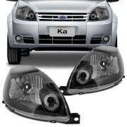 Farol Principal Ford Ka 2008 a 2011 Lado Esquerdo Máscara Cromada