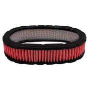 Filtro ar esportivo oval 40mm Vermelho Para carburador