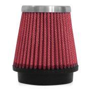 Filtro de Ar Esportivo Rs Air Filter Cônico 70mm Vermelho