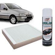 Filtro do Ar Condicionado Cabine Fiat Palio 1996 a 1998 + Higienizador