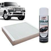 Filtro do Ar Condicionado Cabine Ford Ranger 2012 em diante com Limpa Ar Condicionado