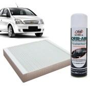 Filtro do Ar Condicionado Cabine GM Meriva 2002 em diante com Limpa Ar Condicionado