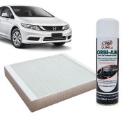 Filtro do Ar Condicionado Cabine Honda Accord New Civic CRV 2007 em diante + Higienizador