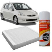 Filtro do Ar Condicionado Cabine Honda Fit 1.4 1.5 2004 a 2008 + Higienizador