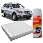 Filtro do Ar Condicionado Cabine Hyundai Azera Santa Fé 3.5 2001 a 2012 + Higienizador
