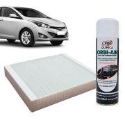 Filtro do Ar Condicionado Cabine Hyundai HB20 todos + Higienizador