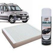 Filtro do Ar Condicionado Cabine Renault Megane 1995 a 1998 com Limpa Ar Condicionado
