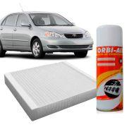 Filtro do Ar Condicionado Cabine Toyota Corolla 1.6 16V 1993 em diante 1.8 16V 1993 a 2007 2.2 16V 1995 a 1997+ Higienizador