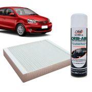 Filtro do Ar Condicionado Cabine Toyota Etios 2013 em diante + Higienizador