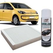 Filtro do Ar Condicionado Cabine Vw Up 2013 em diante com Limpa Ar Condicionado