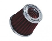 Filtro Race Chrome Max Filter Duplo Fluxo Vermelho RC031VM 60/70mm