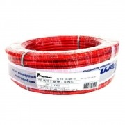 Fio Cabo Flexível Bateria 9mm Vermelho Translúcido PVC Cobre Embalagem com 6,25m
