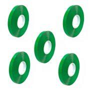 Fita Dupla Face Verde 10mm X 2 Metros Pacote com 5 Unidades