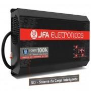 Fonte Automotiva JFA 100A 4400W SCI Carregador de Bateria Bivolt Automático Voltímetro Amperimetro