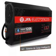 Fonte Automotiva JFA 120A 6000W SCI Carregador Bateria Bivolt Automático LED Voltímetro Amperímetro