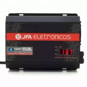 Fonte Automotiva JFA 150A 7000W SCI Carregador Bateria Bivolt Automático LED Amperímetro