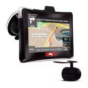 GPS Automotivo Quatro Rodas com Câmera de Ré e TV Digital Tela 7.0
