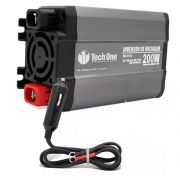 Inversor de Voltagem TechOne 200W 12V 220V Conversor Tomada Usb