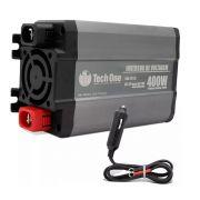 Inversor de Voltagem TechOne 400W 12V 220V Conversor Tomada Usb
