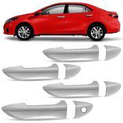 Jogo Aplique Cromado para Maçaneta Toyota Corolla 4 Portas 2015 em diante