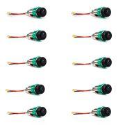 Kit 10 Acendedores de Cigarro Automotivo Veicular Universal 12v Verde