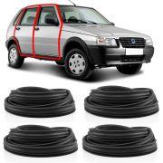 Kit Borracha Para 4 Portas Fiat Uno 2010 em diante