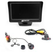Kit Camera De Re e Camera Frontal Com Monitor LCD 4 Polegadas Tiger