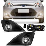 Kit Farol de Milha Ford Fiesta 2010 A 2014 com Grade